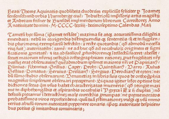 Thomas von Aquin - Questiones de duodecim quodlibeta. 1474