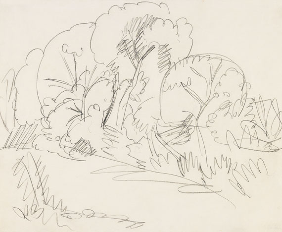 Ernst Ludwig Kirchner - Baumgruppe auf Fehmarn