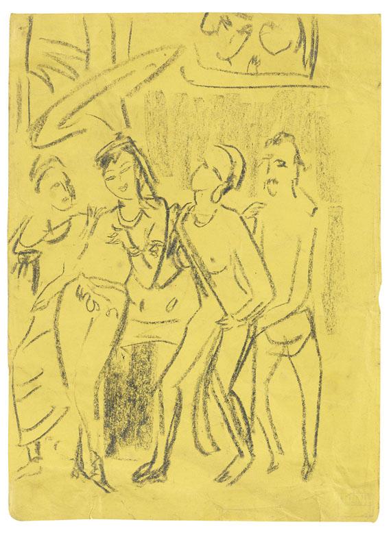 Ernst Ludwig Kirchner - Prinzessin Madri verlässt den Palast