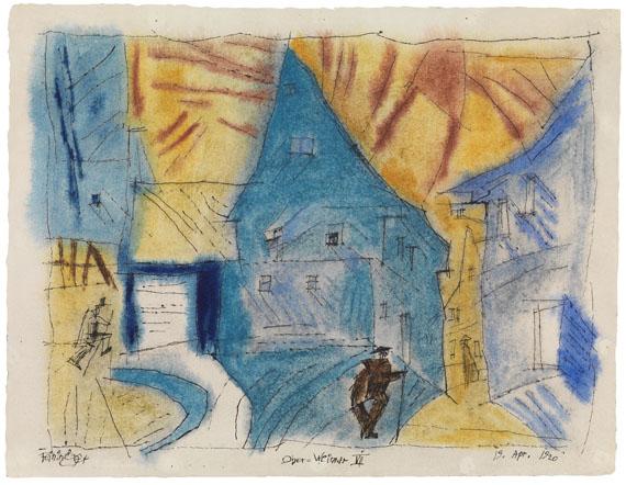 Lyonel Feininger - Ober-Weimar VII