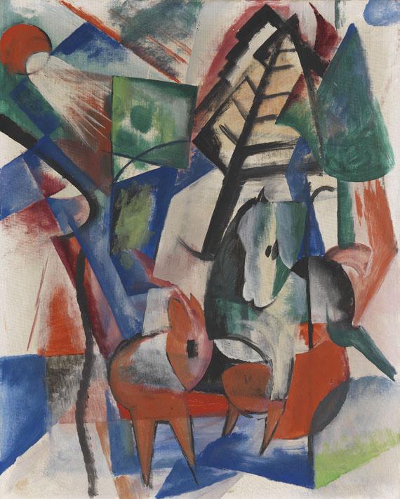 Heinrich Campendonk - Zwei Pferde