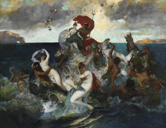 Otto Seitz - Hochzeitszug des Neptun und der Amphitrite (Ölstudie)