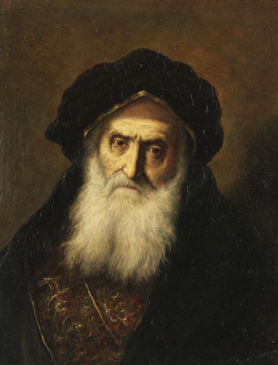 Christian W. E. Dietrich gen. Dietricy - Portrait eines alten Juden