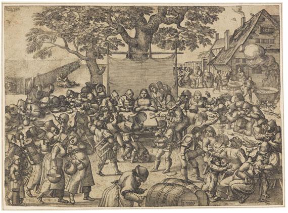 Pieter van der Borcht - Die große Dorfhochzeit