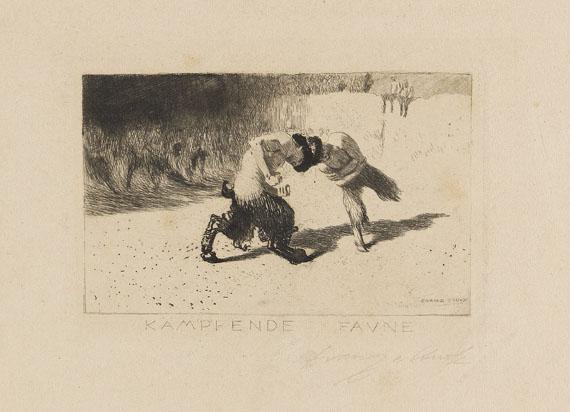 Franz von Stuck - Kämpfende Faune