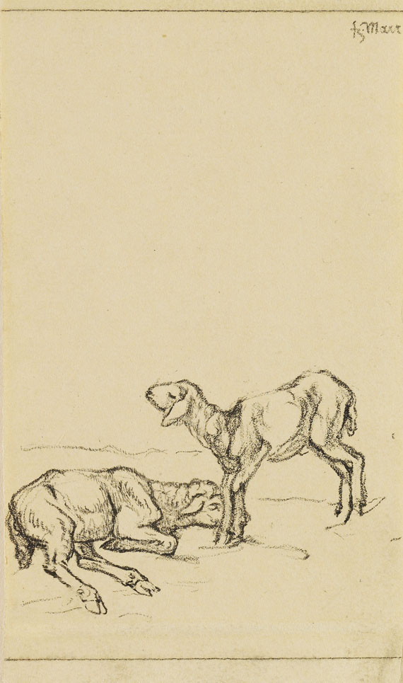 Franz Marc - Zwei Lämmer