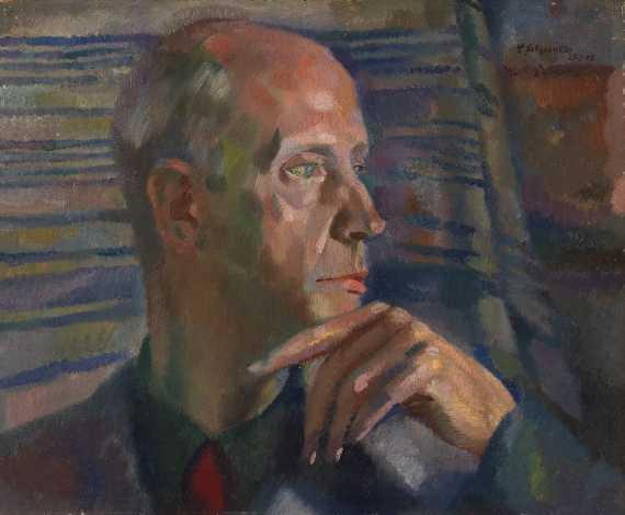 Conrad Felixmüller - Bildniskopf H. C. von der Gabelentz (Profil)