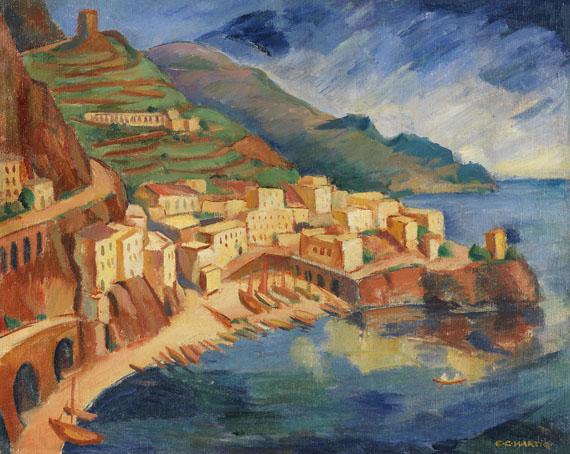 Carl Christoph Hartig - Küste bei Amalfi