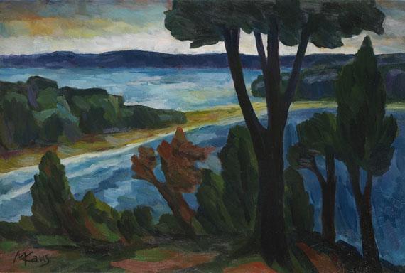 Max Kaus - Bäume am Seeufer