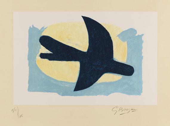 Georges Braque - Oiseau bleu et jaune