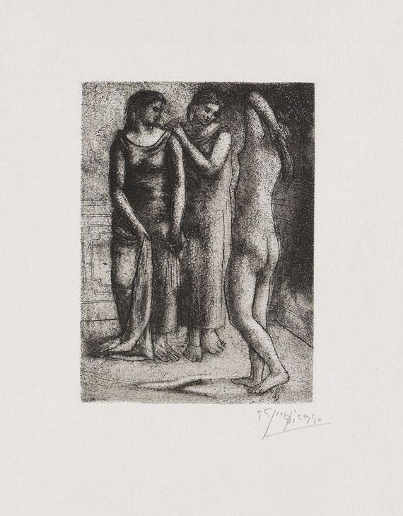 Pablo Picasso - Deux femmes regardant un modèle nu