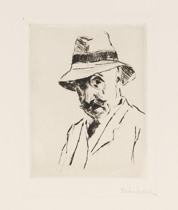 Max Liebermann - Selbstportrait mit dem Hut auf dem Kopf