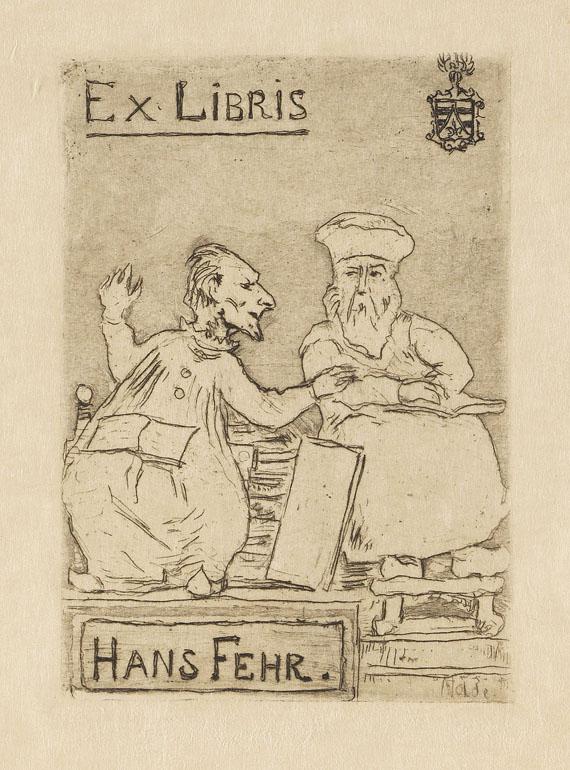 Emil Nolde - Die Gelehrten, Ex Libris Hans Fehr