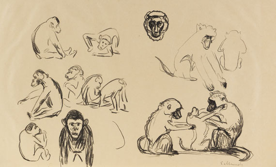 Edvard Munch - Affen I und II