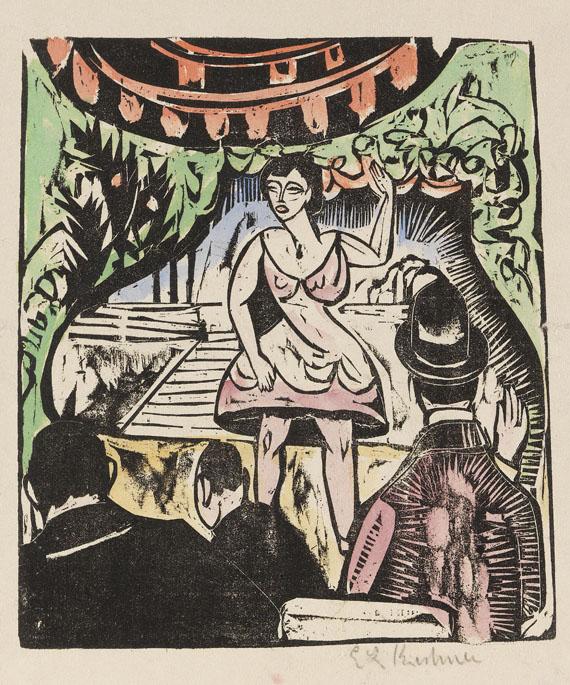 Ernst Ludwig Kirchner - Kleines Variete mit Sängerin