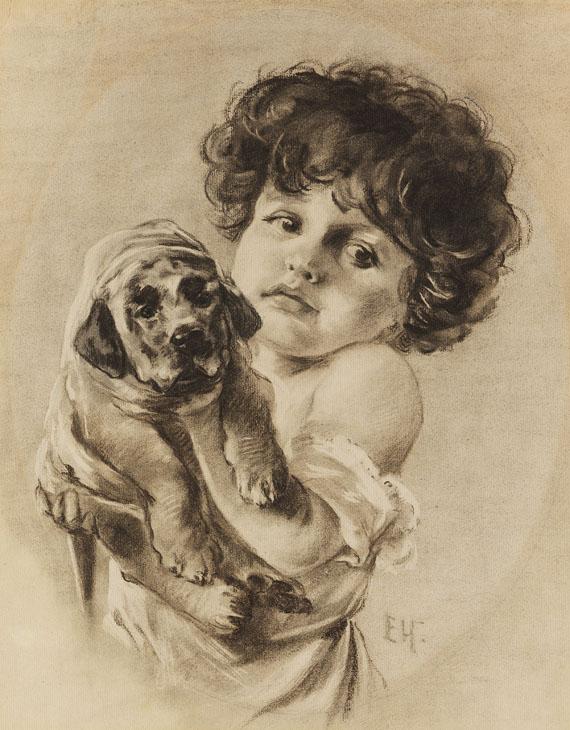 Emil Nolde - Kind mit Hündchen im Arm