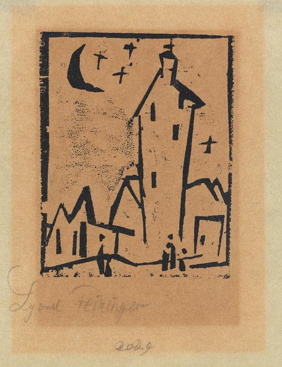 Lyonel Feininger - Kirche mit hohem Turm