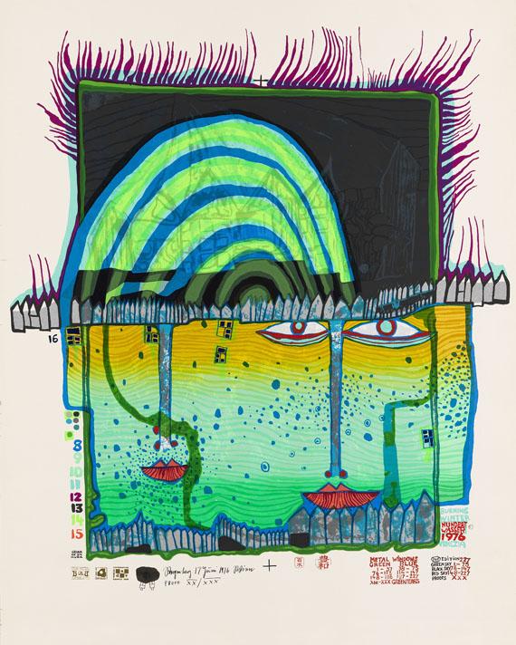 Friedensreich Hundertwasser - Winter Lichterloh