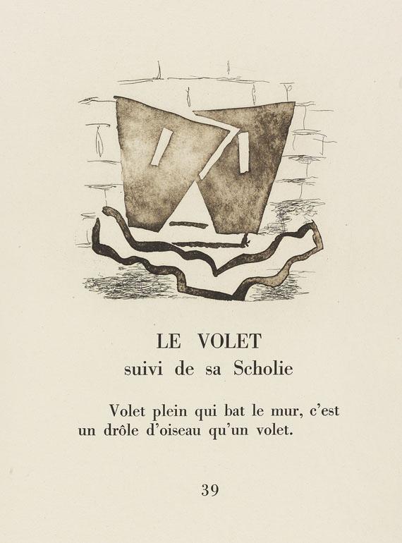 Georges Braque - Ponge, Cinq sapates 1950