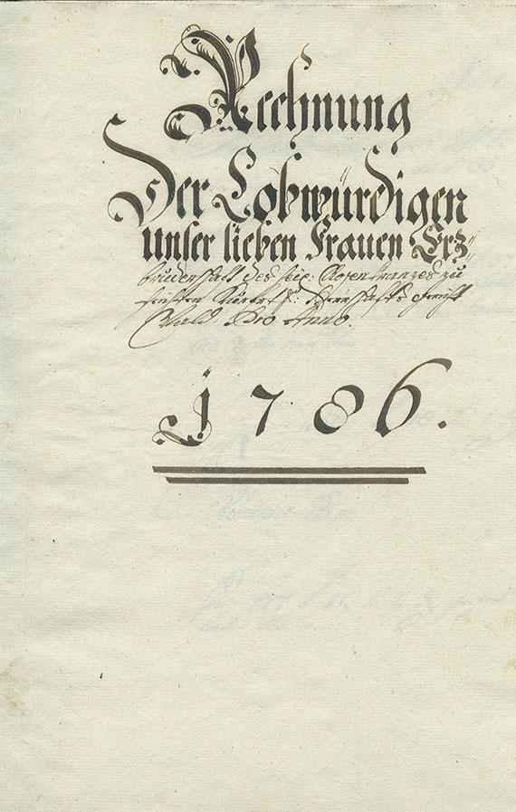 Manuskript - Rechnungsbuch Rosenkranzbruderschaft. 1786.