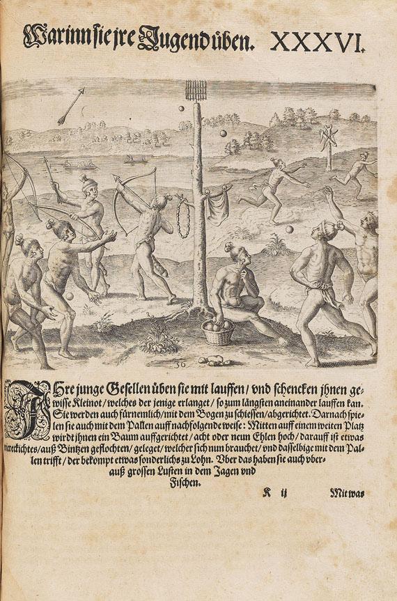 Theodor de Bry - Große Reisen - Amerika. 5 Tle. in 1 Bd. 1590