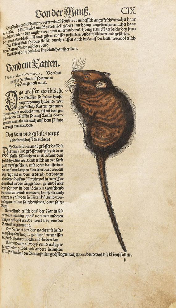 Conrad Gesner - Thierbuch. 3 Teile in 1 Bd. 1563.