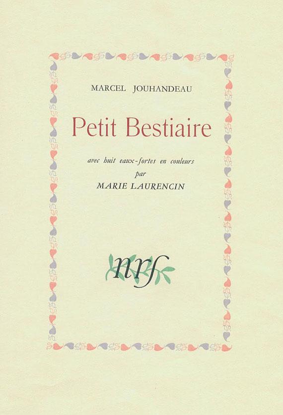 Marie Laurencin - Jouhandeau. Petit Bestiaire. 1944