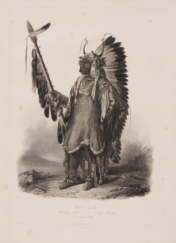 Prinz zu Wied-Neuwied Maximilian - Reise in das Innere Nord-Amerika. 2 Text- und 2 Tafelbde. 1839-41.