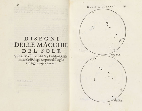 Galileo Galilei - Opere. 2 Bde.,  1655- 1656.