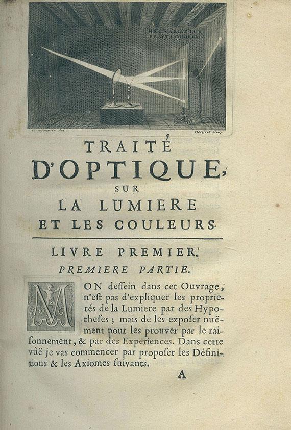 Isaac Newton - Traité d'Optique. 1722