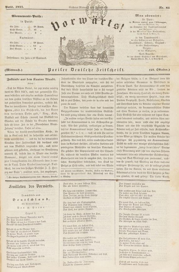 Heinrich Heine - Deutschland, ein Wintermärchen, in: Vorwärts! 1844