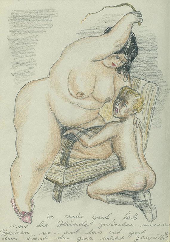 Männliche und weibliche Doppelpenetrationsfrau