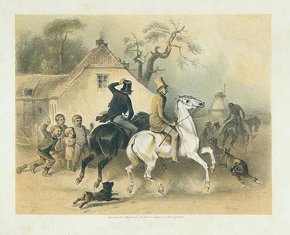 Theodor Hosemann - Genrebilder. 1842 - Dabei: 1 Orig.-Zeichnung.