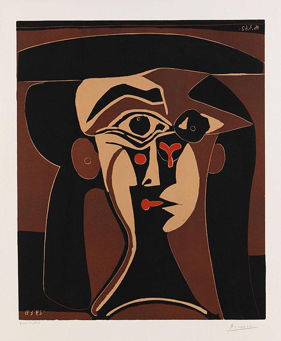 Pablo Picasso - Jaqueline au chapeau noir