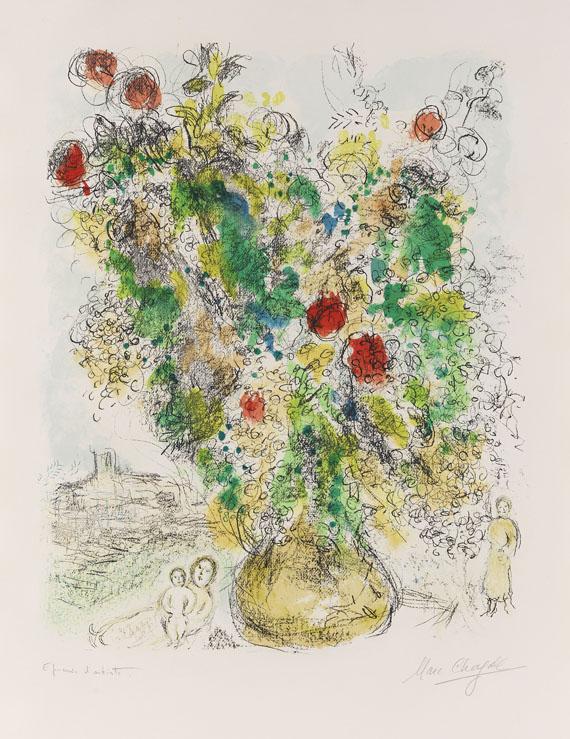 Marc Chagall - Rosen und Mimosen - Signatur
