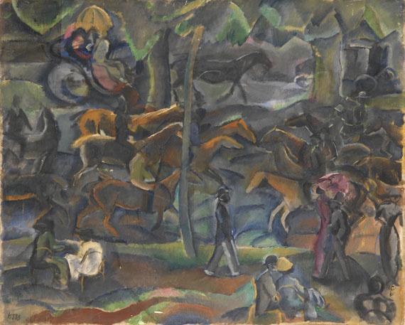 Kars - Reiter und Flaneure im Park