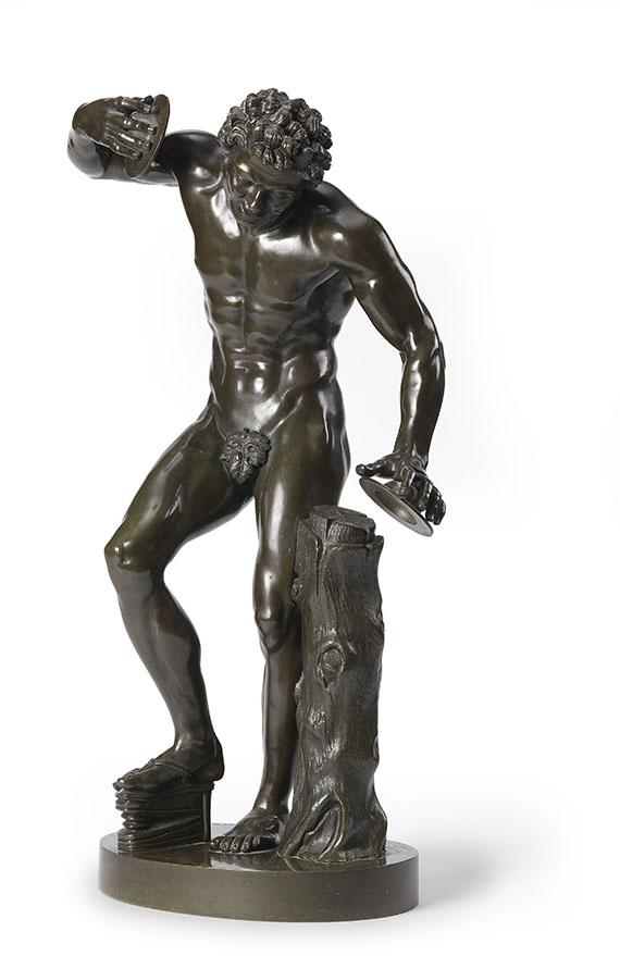 Antikenkopie - Tanzender Faun mit Zimbeln