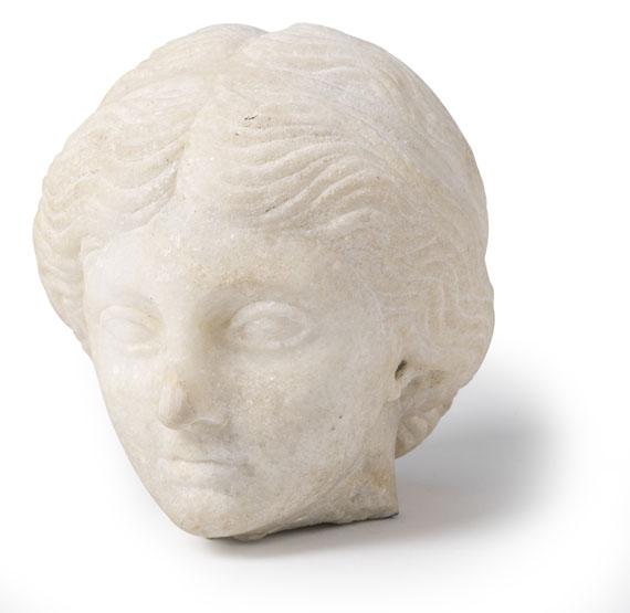 Antikenkopie - Kopf einer Römerin