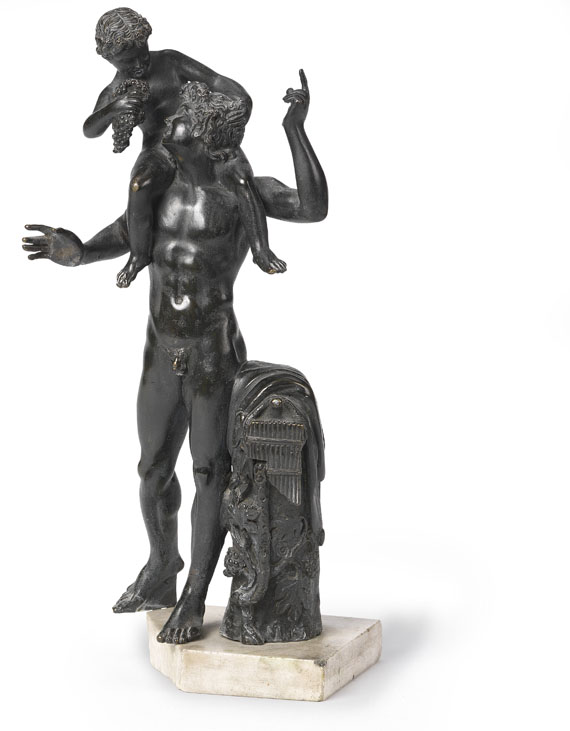 Antikenkopie - Faun mit Bacchusknaben