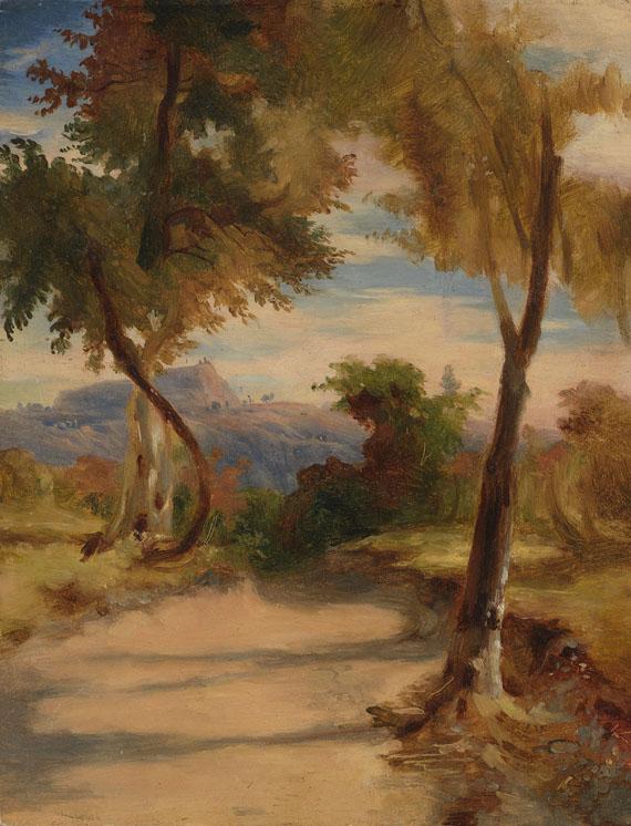 Carl Blechen - Nachfolge - 2 Gemälde: Landschaftstudien
