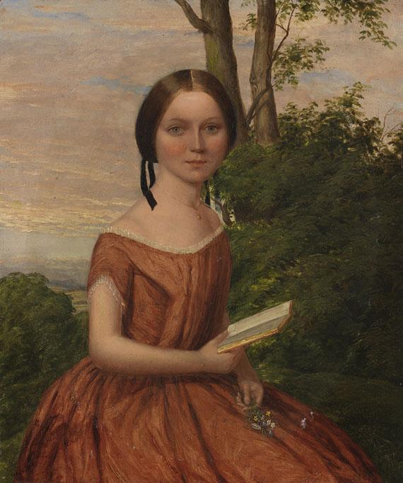 William Galbraith - Mädchenportrait mit Buch