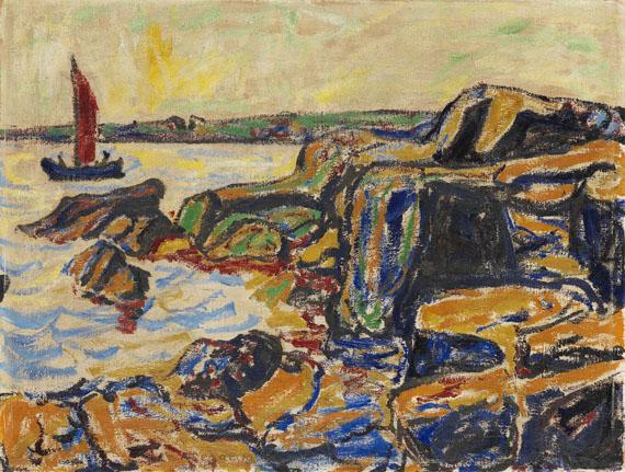 Arthur Segal - Felsen am Meere