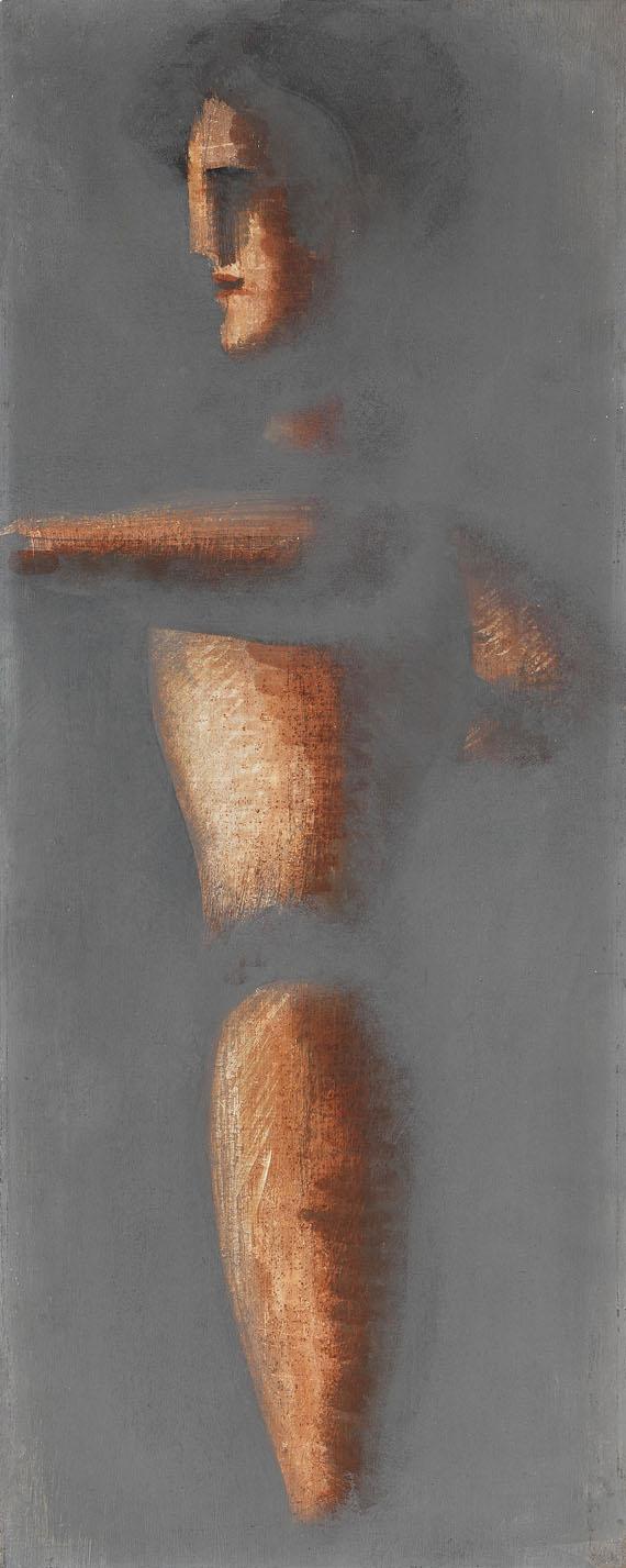Oskar Schlemmer - Figur auf grauem Grund