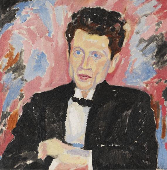 Heinrich Maria Davringhausen - Porträt Mann im Frack
