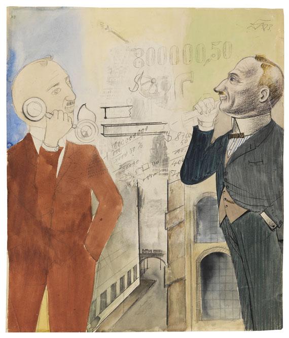 Otto Dix - Börsenspekulanten