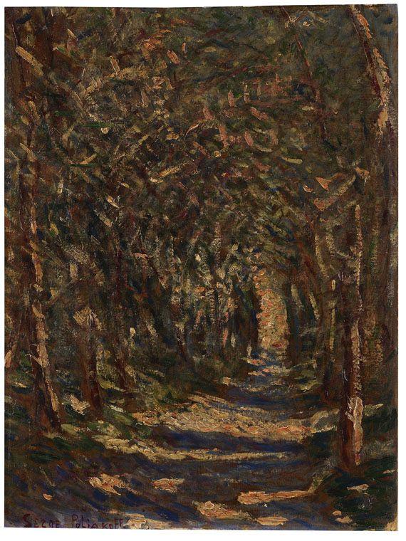 Serge Poliakoff - Paysage sous Bois