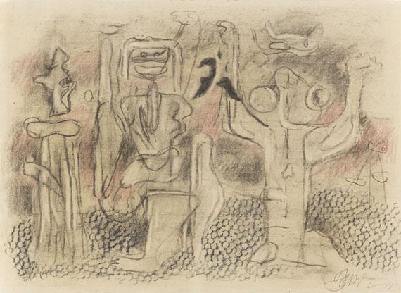 Willi Baumeister - Figurengruppe mit Läufer