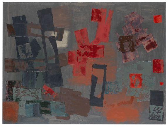 Fritz Winter - Schatten vor Rot