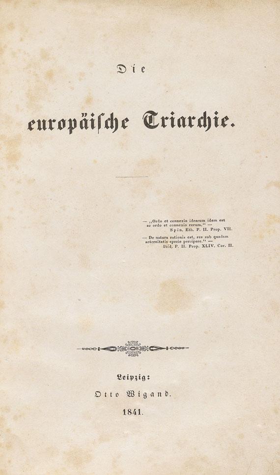 Moses Hess - Die europäische Triarchie. 1841. - Weitere Abbildung