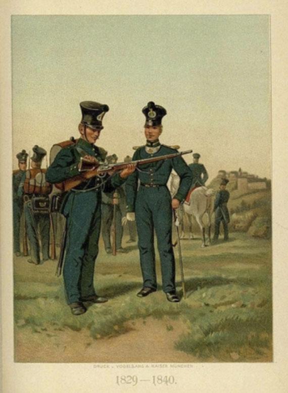 Felix Eder - Jäger-Bataillon. 1894.